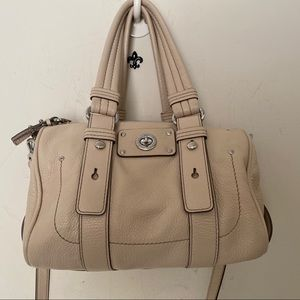 Marc Jacobs Ivory Leather Shifty Barrel Purse NWOT